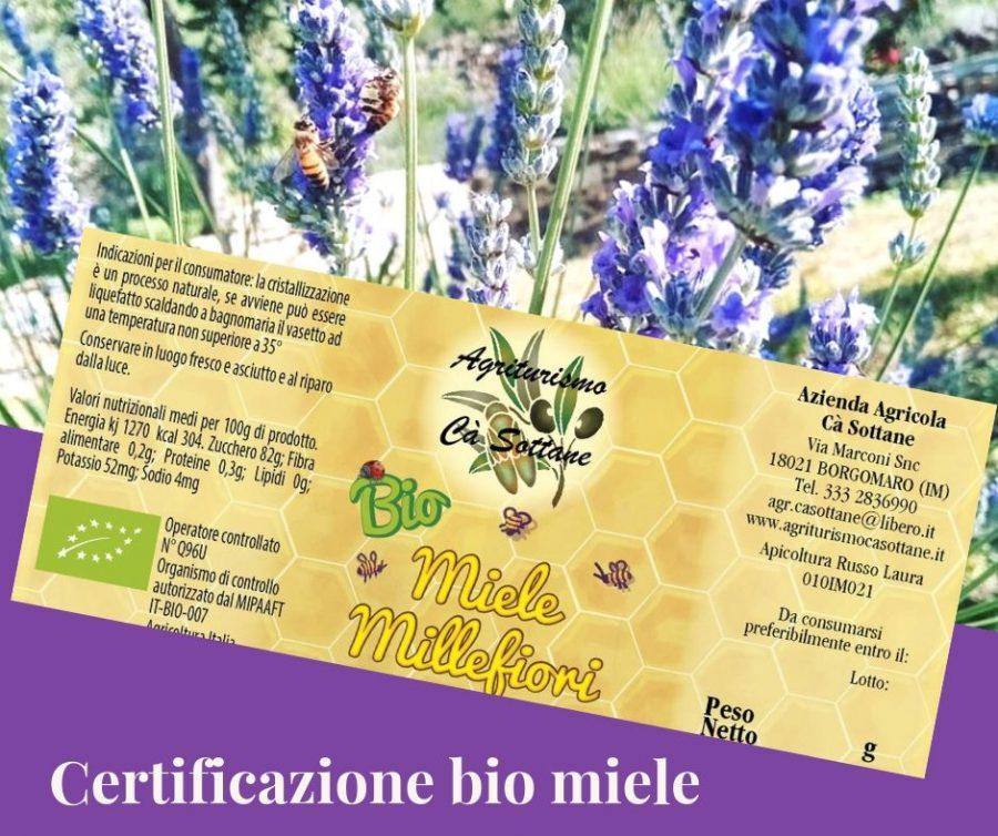 Certificazione di conformità Bio per il miele